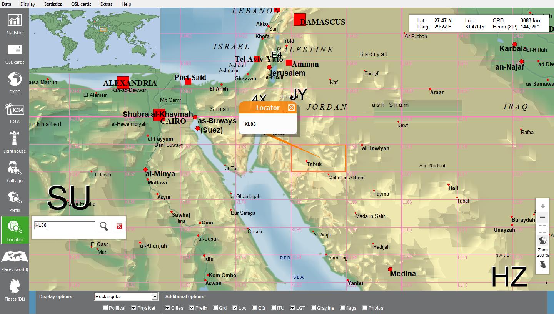World map search locator