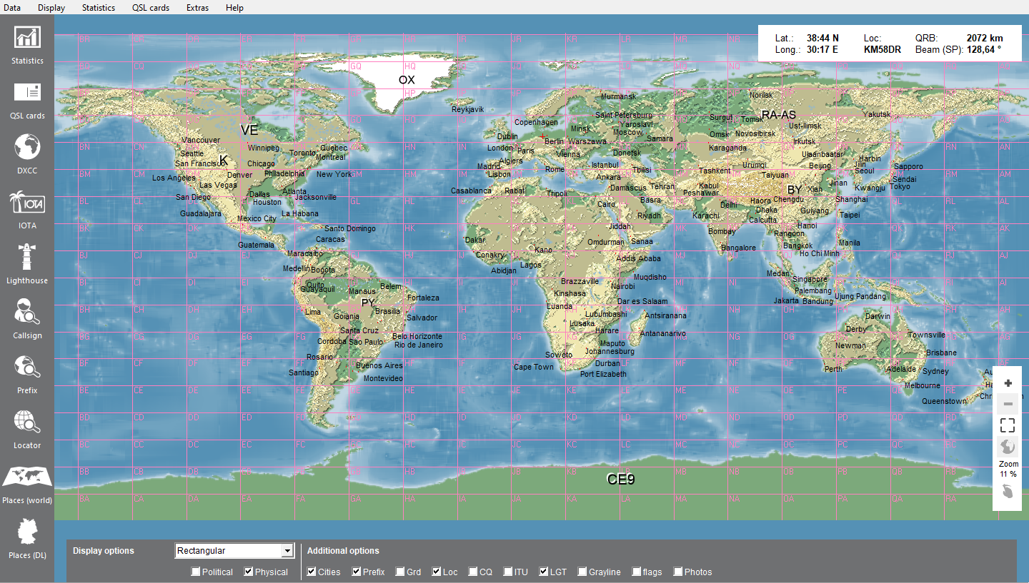 Zoomable World map